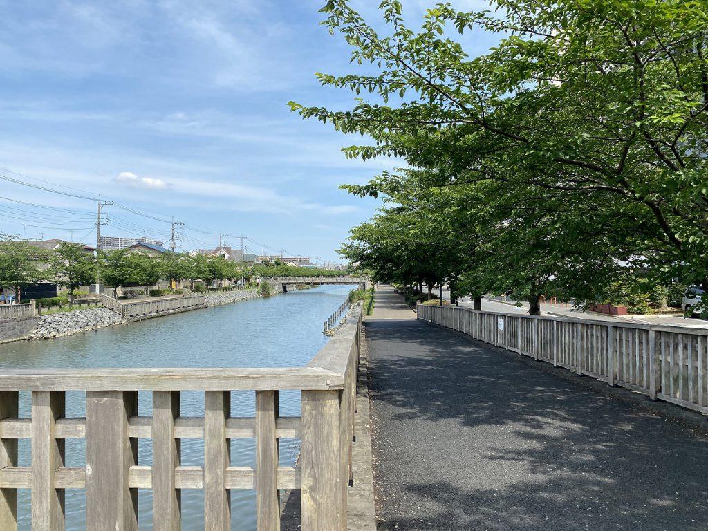 マンションの北側には荒川が眺められます。荒川千本桜が広がっていて、落ち着いた風情となっています。小学校、中学校も近く、お買い物も便利。住環境も良好です。
